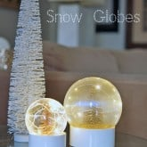 MAKE YOUR OWN REAL SNOW GLOBE.