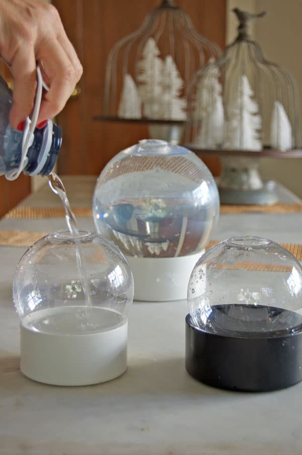 how to make a snow globe with glycerin
