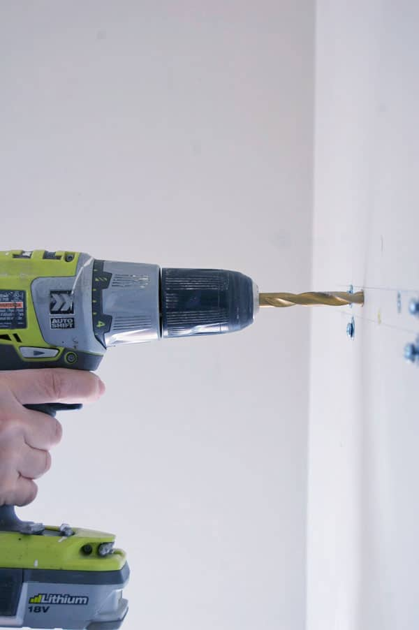 Mark The Place On Your Wall Where You Want To Hang Something Using Right Sized Drill Bit Hole Don T Go Wiggling All Over With