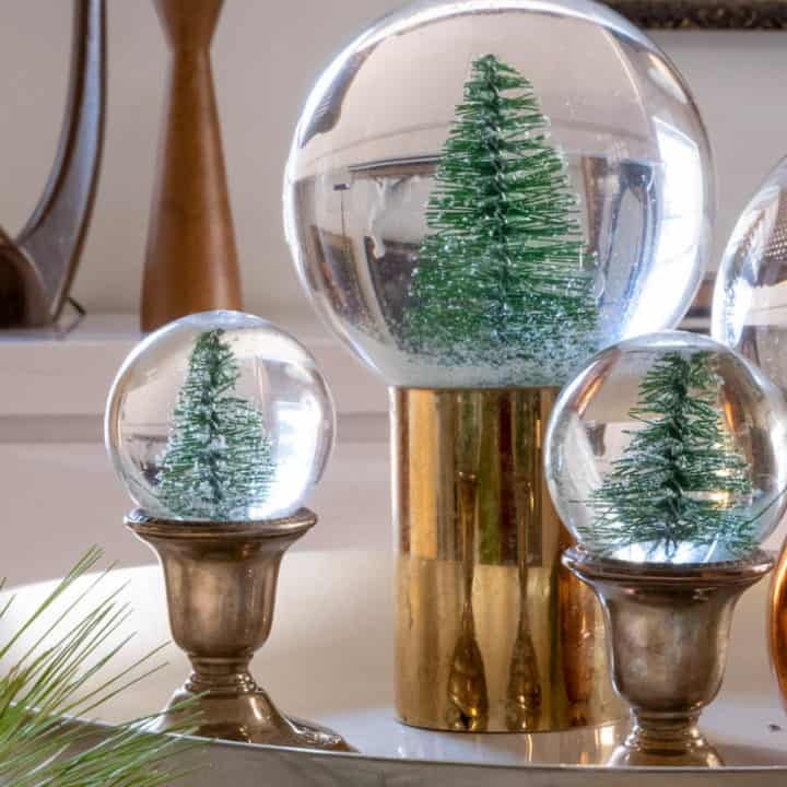 Easy DIY Snow Globes.