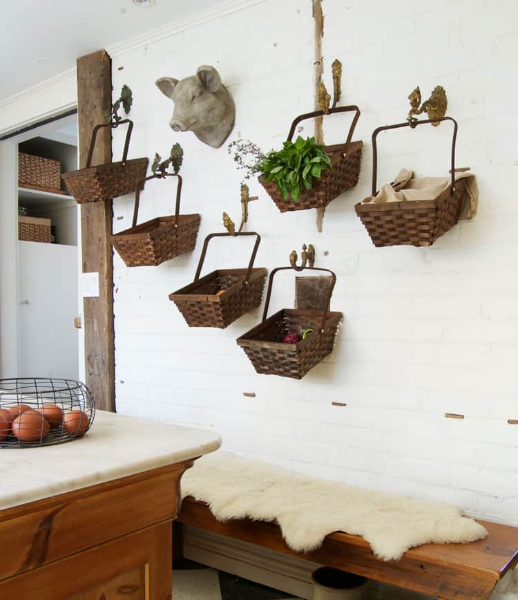 Kitchen-baskets-on-brick-wall