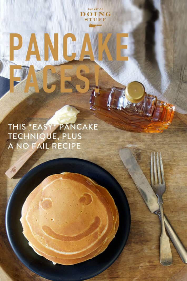 Pancakes with Faces for Shrove Tuesday