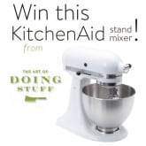 I'M GIVING AWAY A KITCHENAID STAND MIXER!