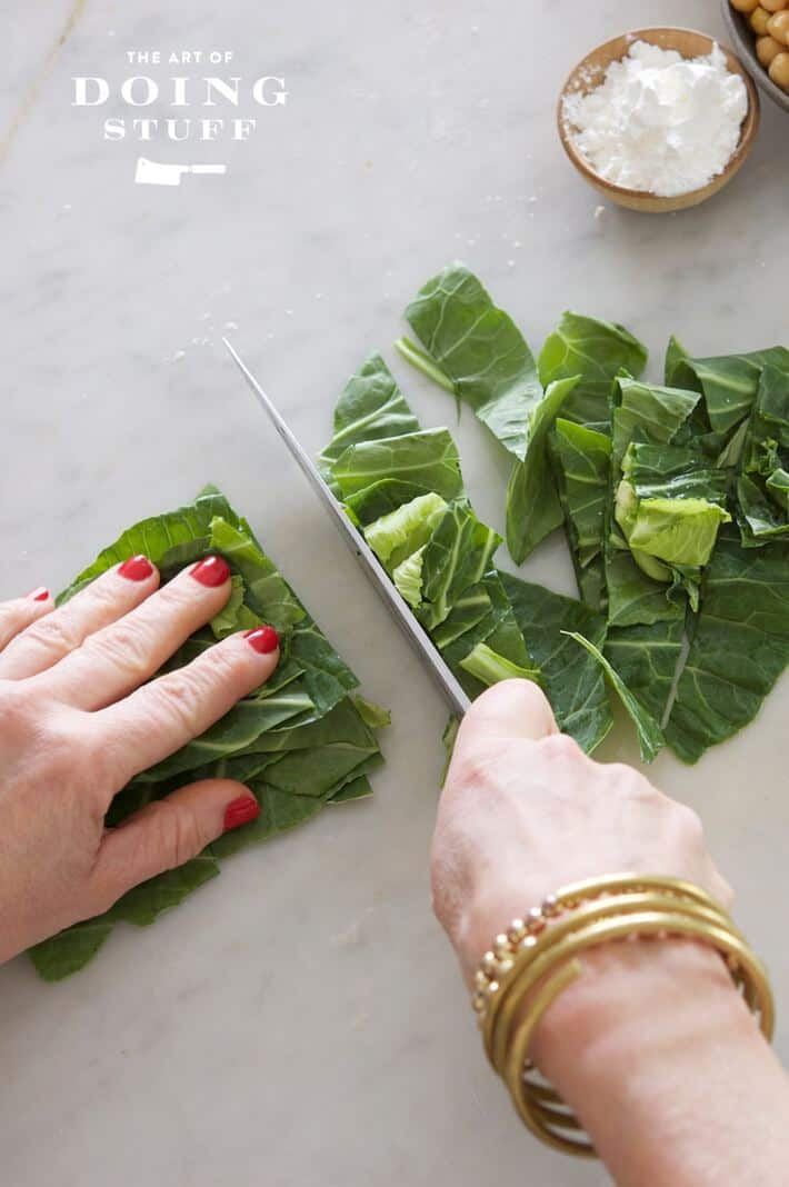 Chopping-Collards