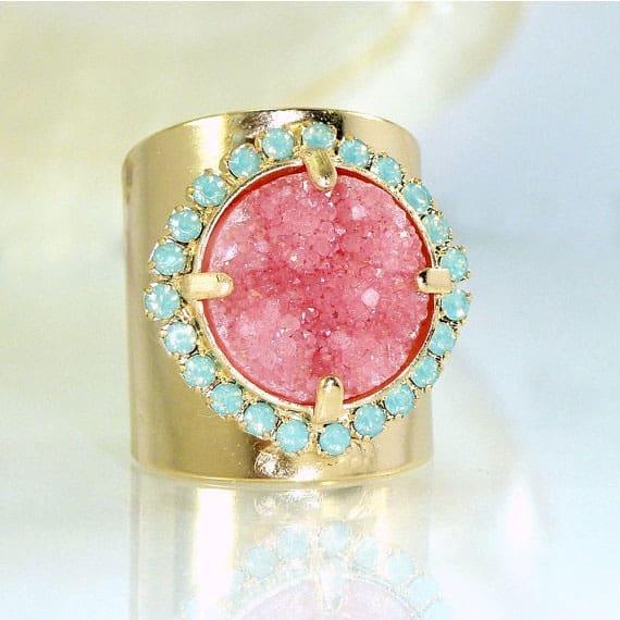pink-druzy-ring