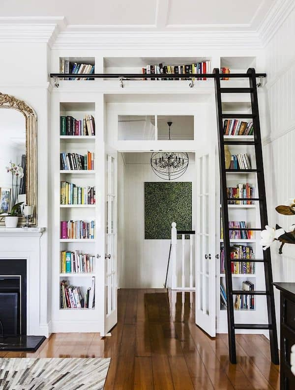 Built-In-Bookshelves-Around-Doorway