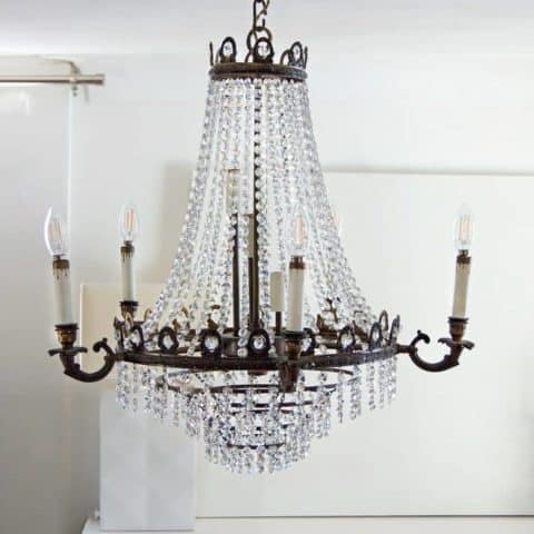 Spray On Crystal Chandelier Cleaner.