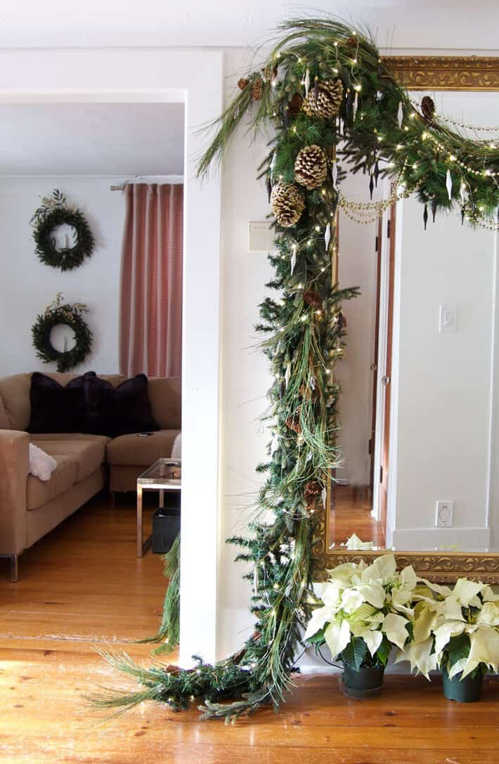thick christmas garland