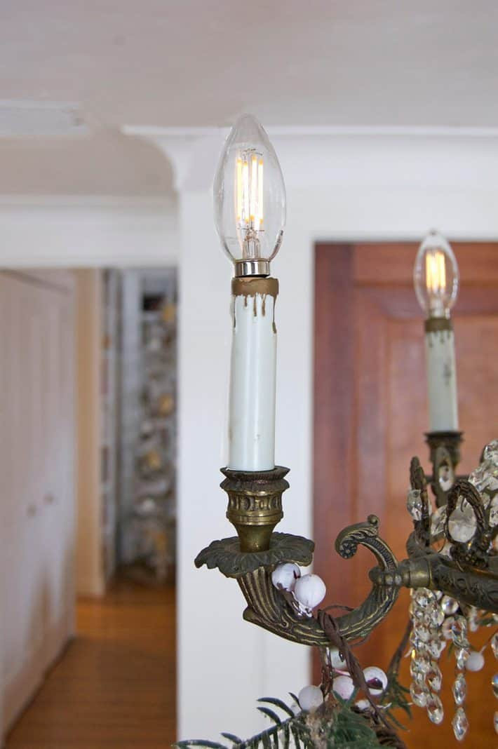repaired-chandelier-socket - Easy Chandelier Socket Repair. How To Replace The Socket.The Art