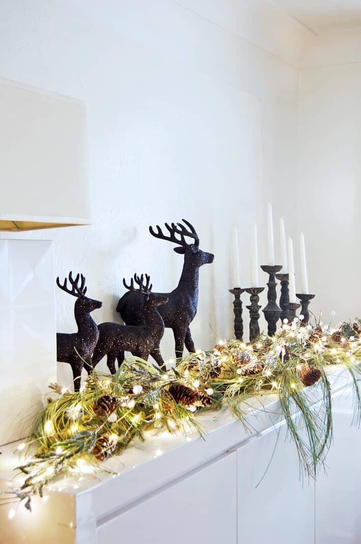 black reindeer