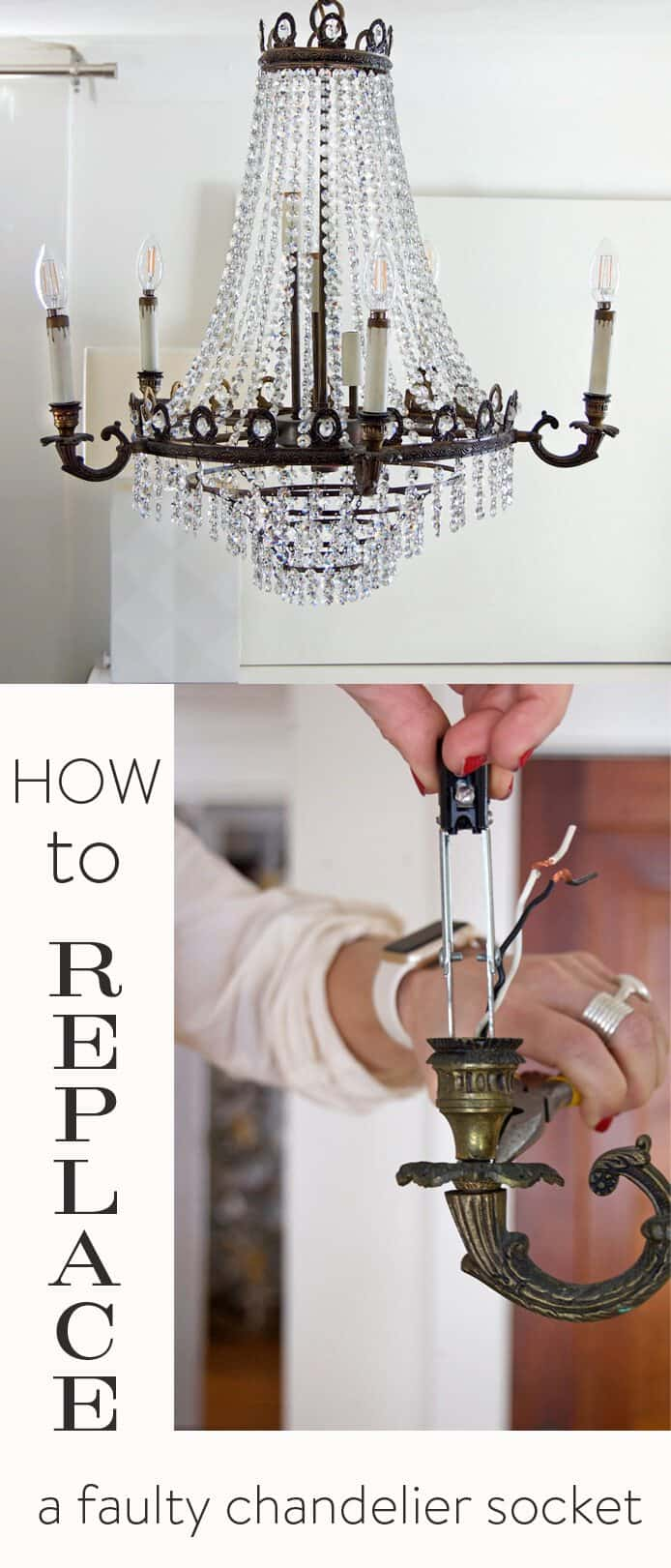 Easy Chandelier Socket Repair How To Replace The Socketthe Art Of First All Start Unscrewing Untwisting Unclipping Your Old Light Step By Instructions
