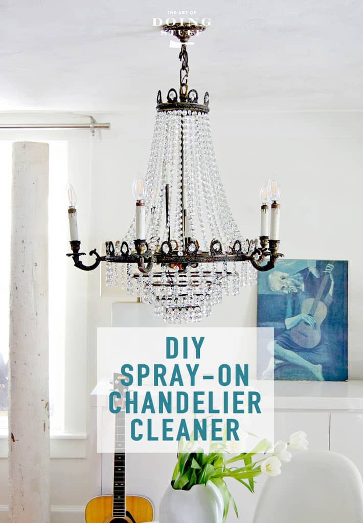 Spray On Crystal Chandelier Cleaner. (DIY it)