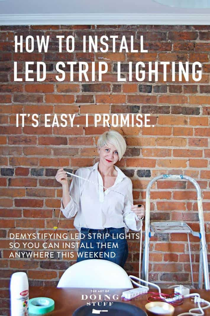 how to install led strip lighting