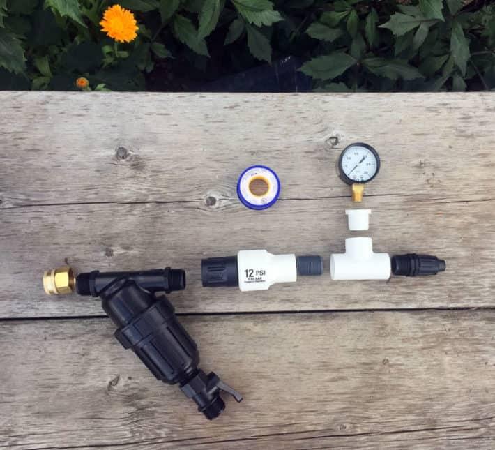 installing drip irrigation filter