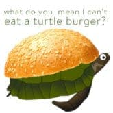 UM. WHAT DO YOU MEAN I CAN'T EAT A TURTLE BURGER?