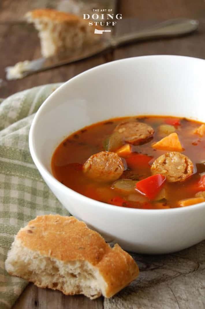 Sausage Vegetable Soup Recipe