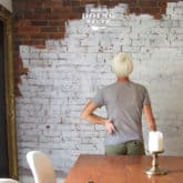 I PAINTED MY 170 YEAR OLD BRICK WALL.  AND NOW I FEEL SICK.