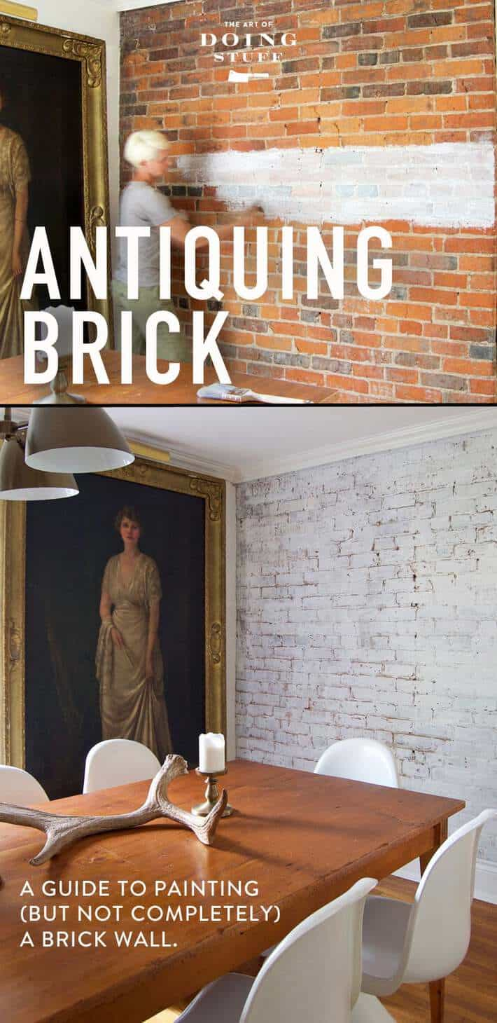 How To Paint A Brick Wall So It Still Has That Antique Character The