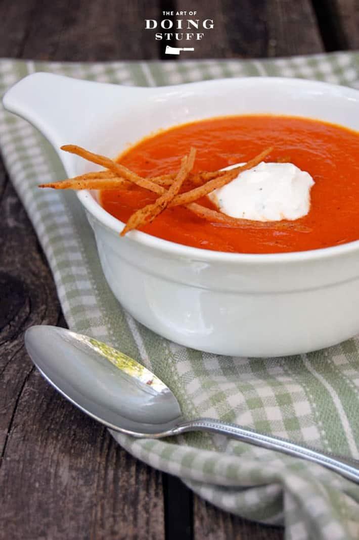 Smoked Tomato Soup Recipe The Art of Doing Stuff