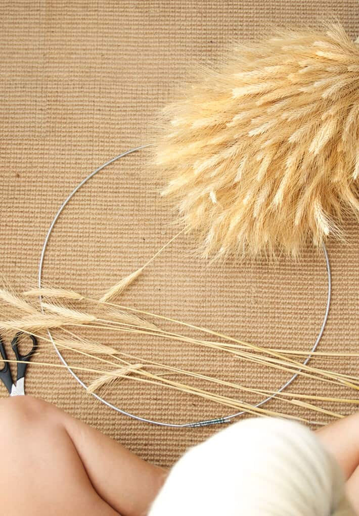Wheat Wreath DIY The Art of Doing Stuff