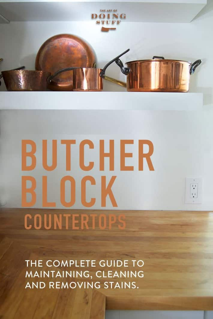 How To Maintain Butcher Block Countertops.