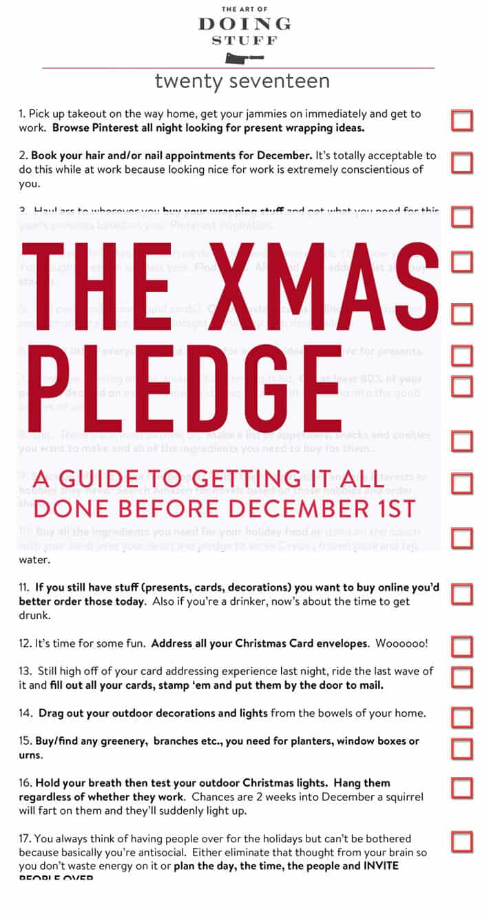 The Christmas Pledge