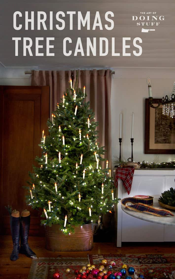 HOW TO MAKE DIY CHRISTMAS TREE CANDLES.The Art of Doing Stuff