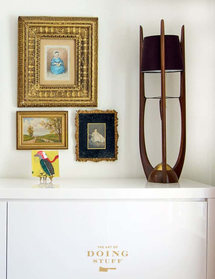 Small gallery wall.