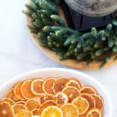 Dried Orange Slices for an Old Fashioned Christmas.
