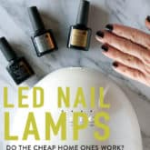 LED Nail Lamps.  Do They Really Work?  Spoiler Alert … Holy crap, YES they do.