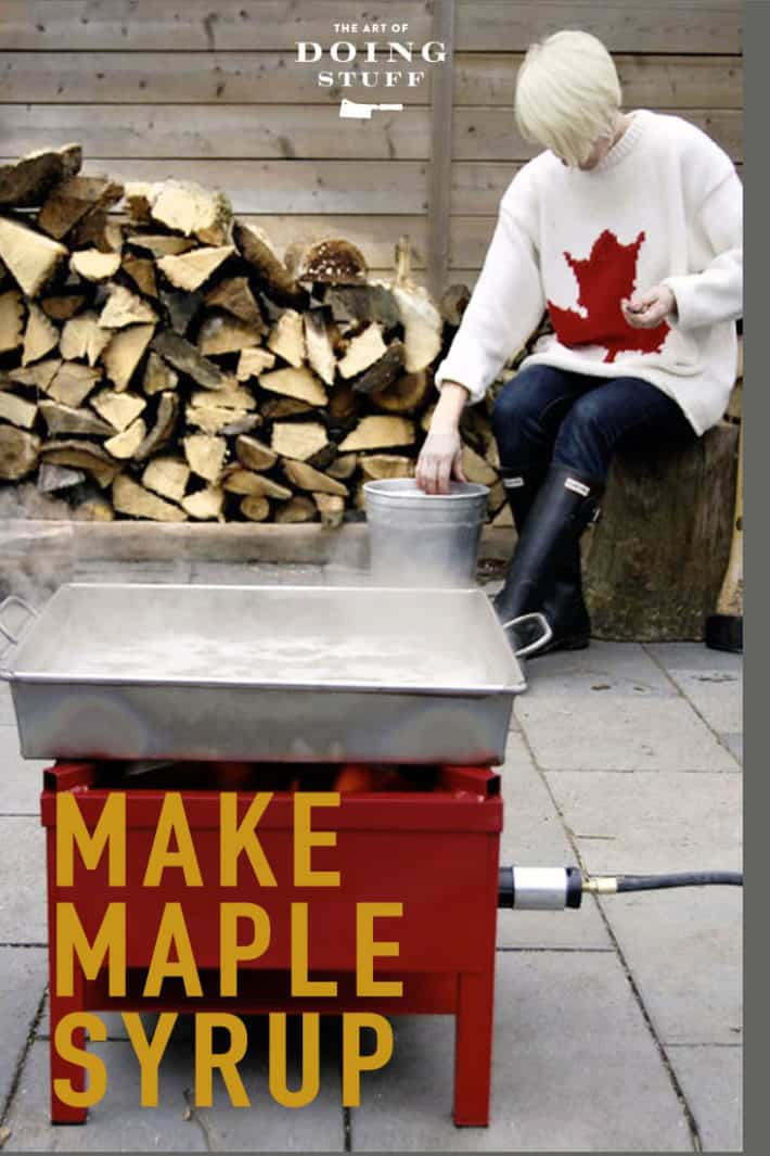 How to make maple syrup.  Even if you're a city slicker.  Even if you only have ONE tree!