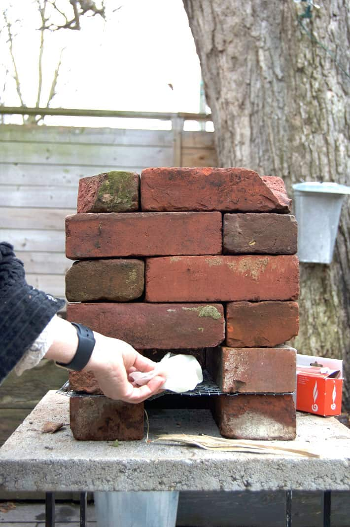 Adding a vegetable oil soaked paper towel to start a rocket stove is the BEST trick.
