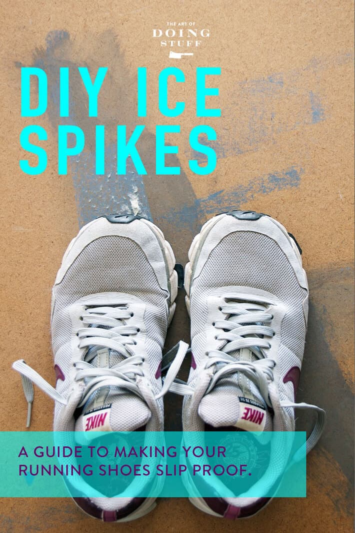 DIY running shoe spikes for about $1.  Work GREAT.