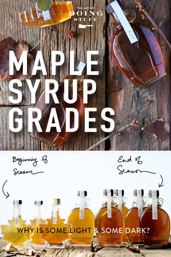 Maple syrup runs from light to dark.  Are you one of the few people who knows why the light is light and the dark is dark??