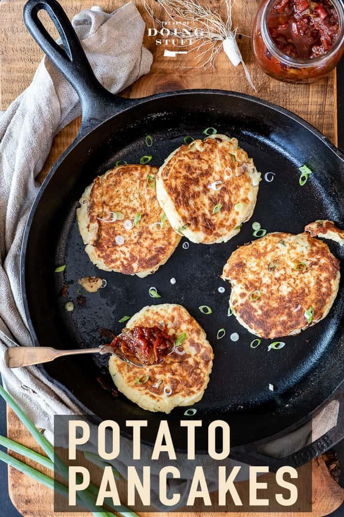Mashed Potato Pancakes. From Leftovers!
