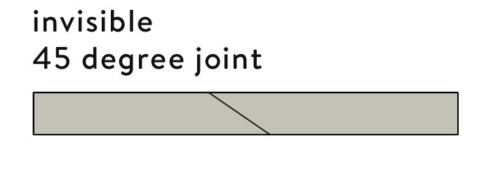 How to cut an invisible 45 degree joint to join wood seamlessly.