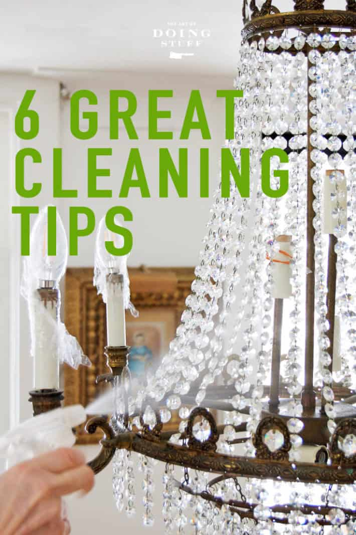 6 great cleaning tips for those of us who hate cleaning.