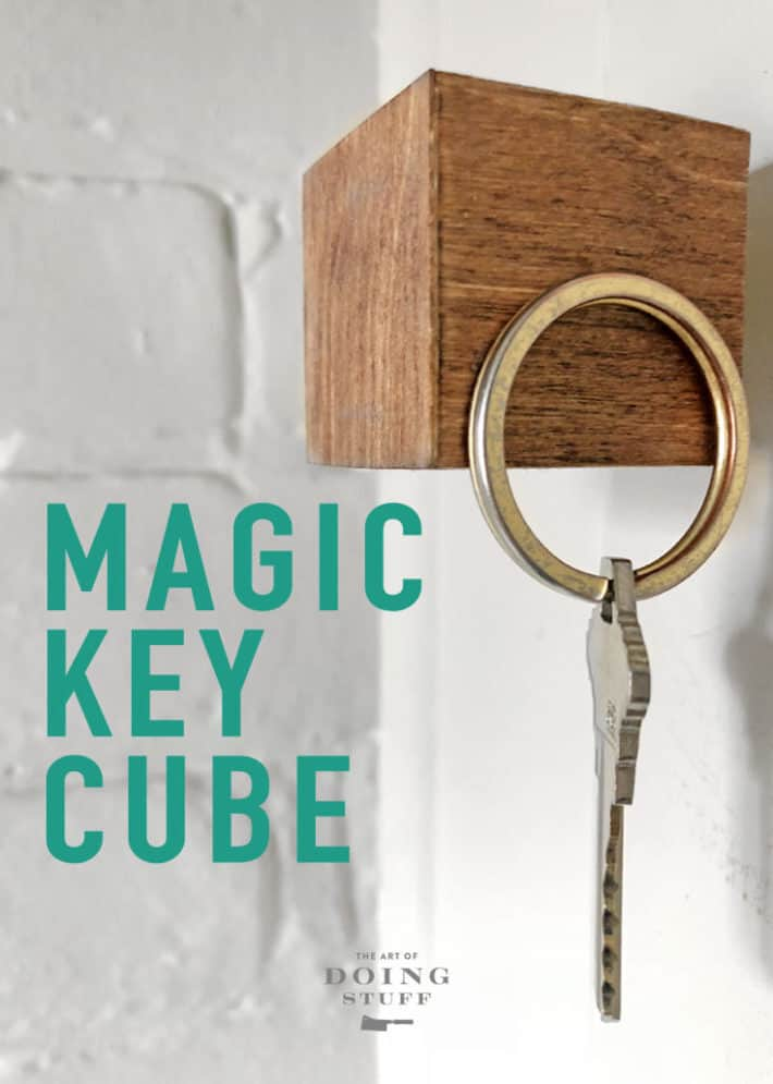The Magic Key cube!  Make one of these babies in about an hour and always know where your keys are. They're on that really cool looking magnetic cube. ;)