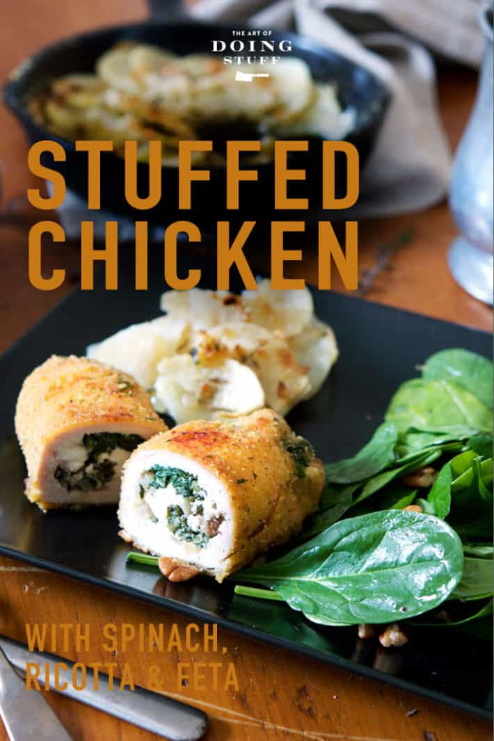 Spinach Stuffed Chicken With Gooey Cheese.