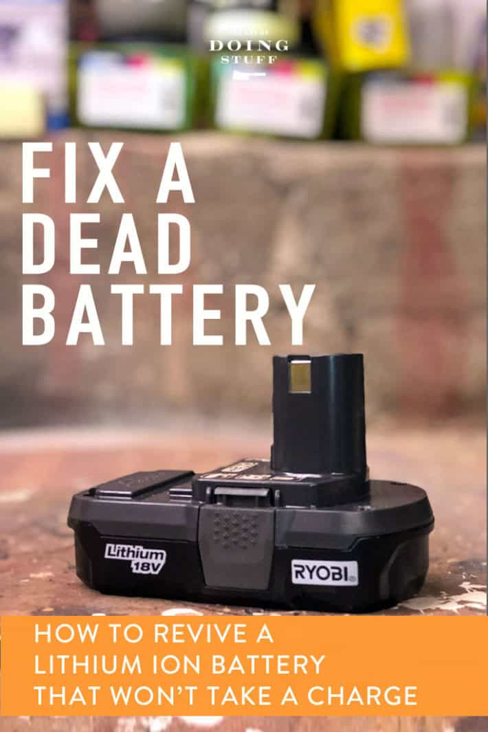 Have a rechargeable tool battery that stopped working? It happens all the time. You put it in the charger and it just won\'t take a charge.  Guess what?  YOU CAN FIX THAT BATTERY IN ABOUT 5 MINUTES!