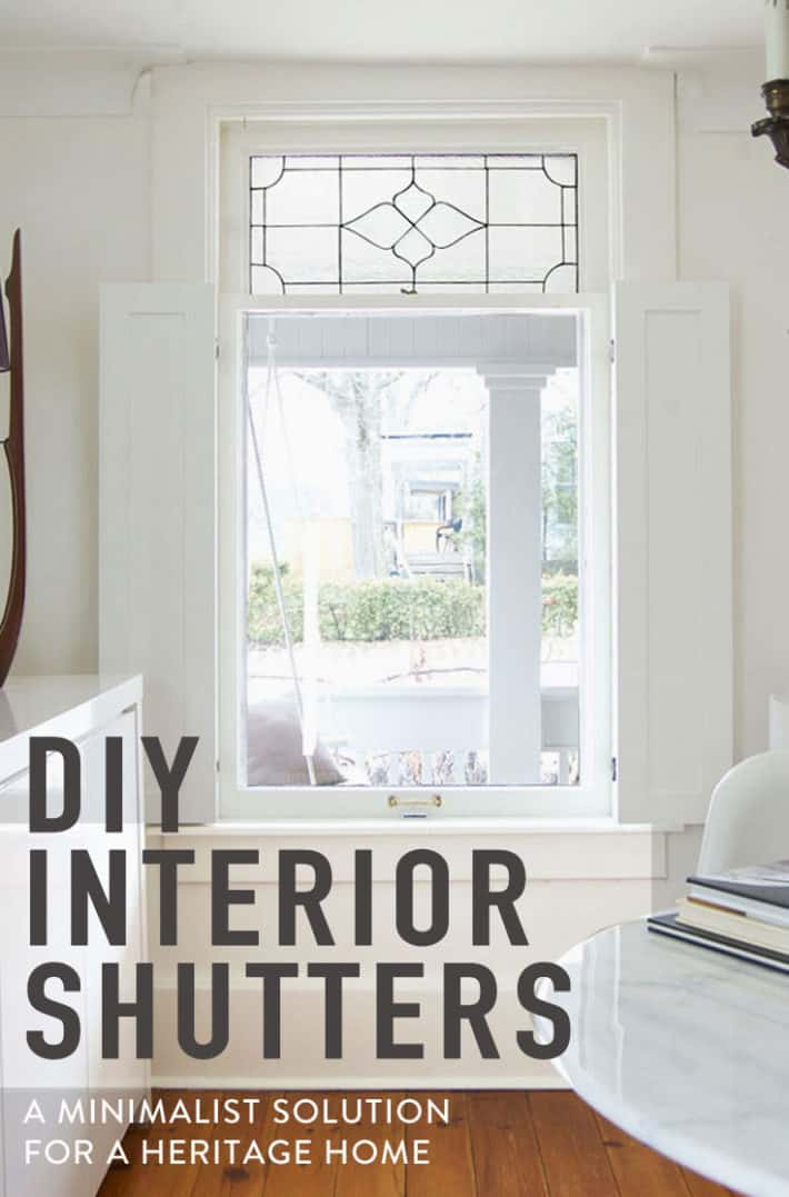 How to Build Interior Window Shutters.