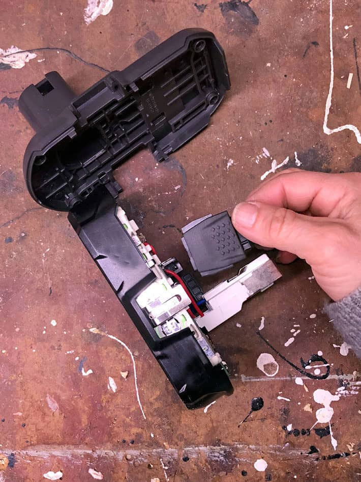 Disassembling 18 volt lithium ion battery.
