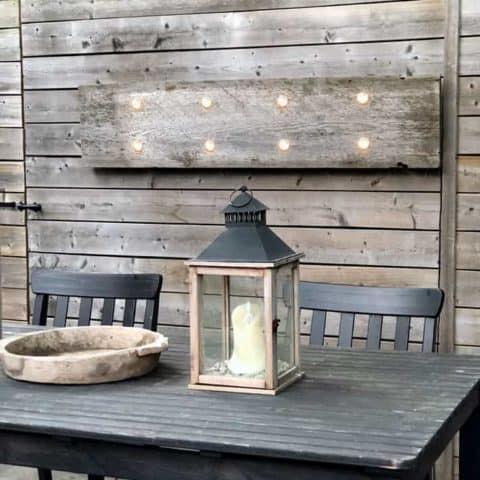 DIY Outdoor Barnboard Light