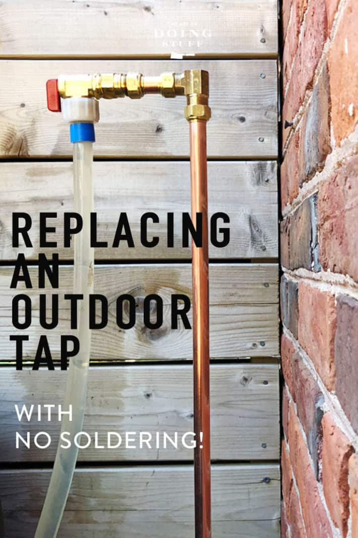 Have a leaky tap outside?  How to fix it and even move it yourself. No plumber or soldering required!