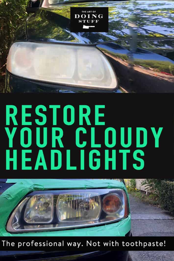 K.  Let's get something straight.  If your headlights are so cloudy that you feel the need to clean them, toothpaste is NOT going to fix them.  If you want to really restore your headlights, here's what you need to do!