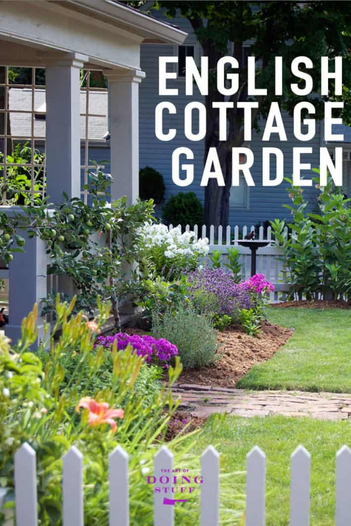 English Cottage gardens aren\'t grown in day. Or a month. They take a few years to develop.  Here\'s a look at mine in year 1 plus a list of the plants within it.