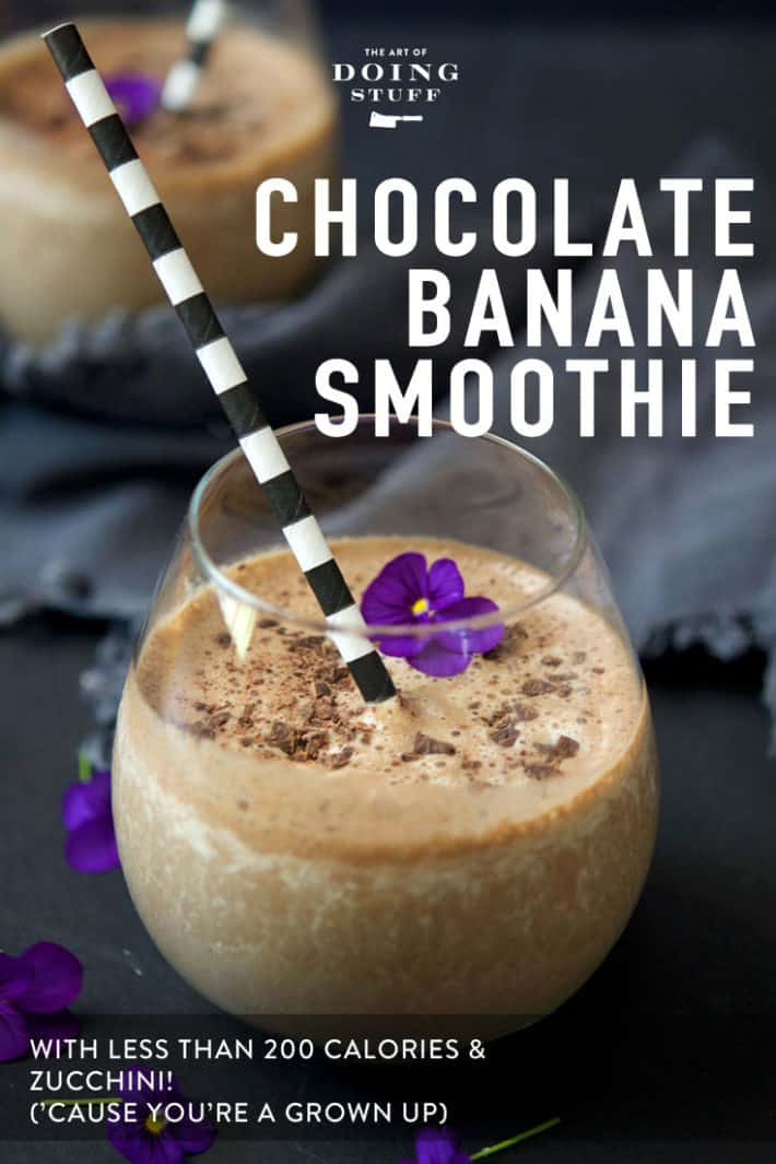 The Chocolate Banana Breakfast Smoothie.