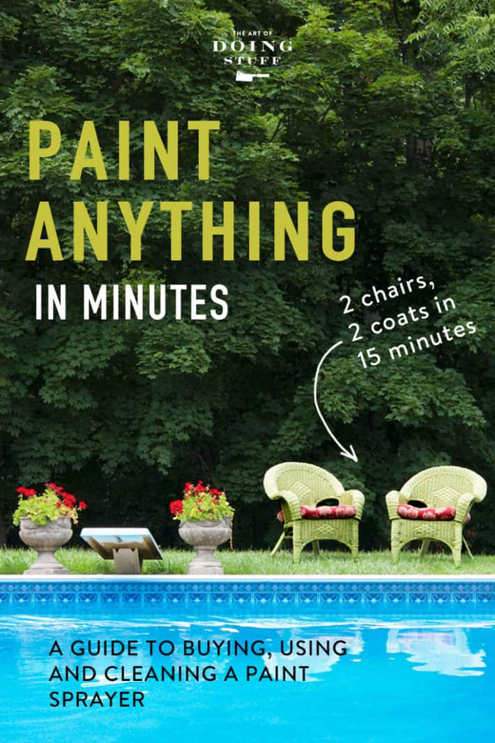 I\'ve been using this paint sprayer for years to paint everything around my house. My shed, picket fence, porch, wicker furniture, tables ... and every time I use it someone stops me to ask what kind it is and where to get one.  Here are all the answers.