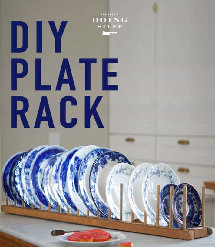 Quick and easy DIY plate rack. Because after 3 years of antique dealers not wanting to sell theirs I took matters into my own hands. And you can too.