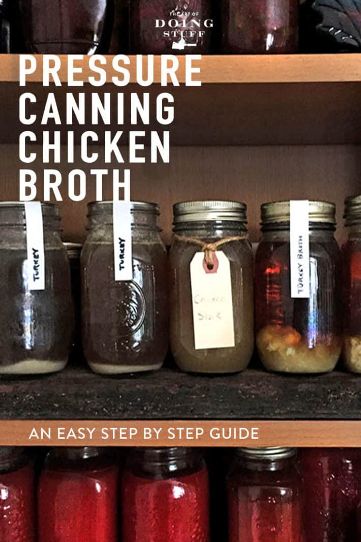 You want to can stuff but you\'re afraid of canning. I get it. Follow these steps and you\'ll feel completely comfortable canning your own chicken broth. I promise.